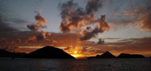 Tramonto su Tortola