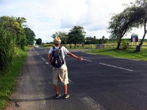 In autostop per Guadalupa