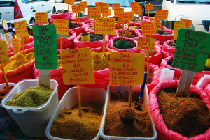Il mercato delle spezie di St François